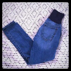 Gap Distressed Maternity Jeans